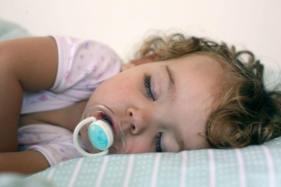 Sweet little girl sleep after a long day