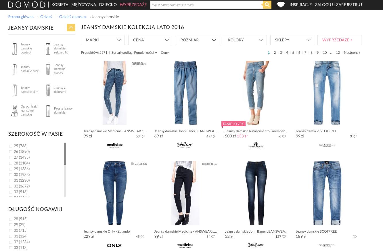 jeansy domodi