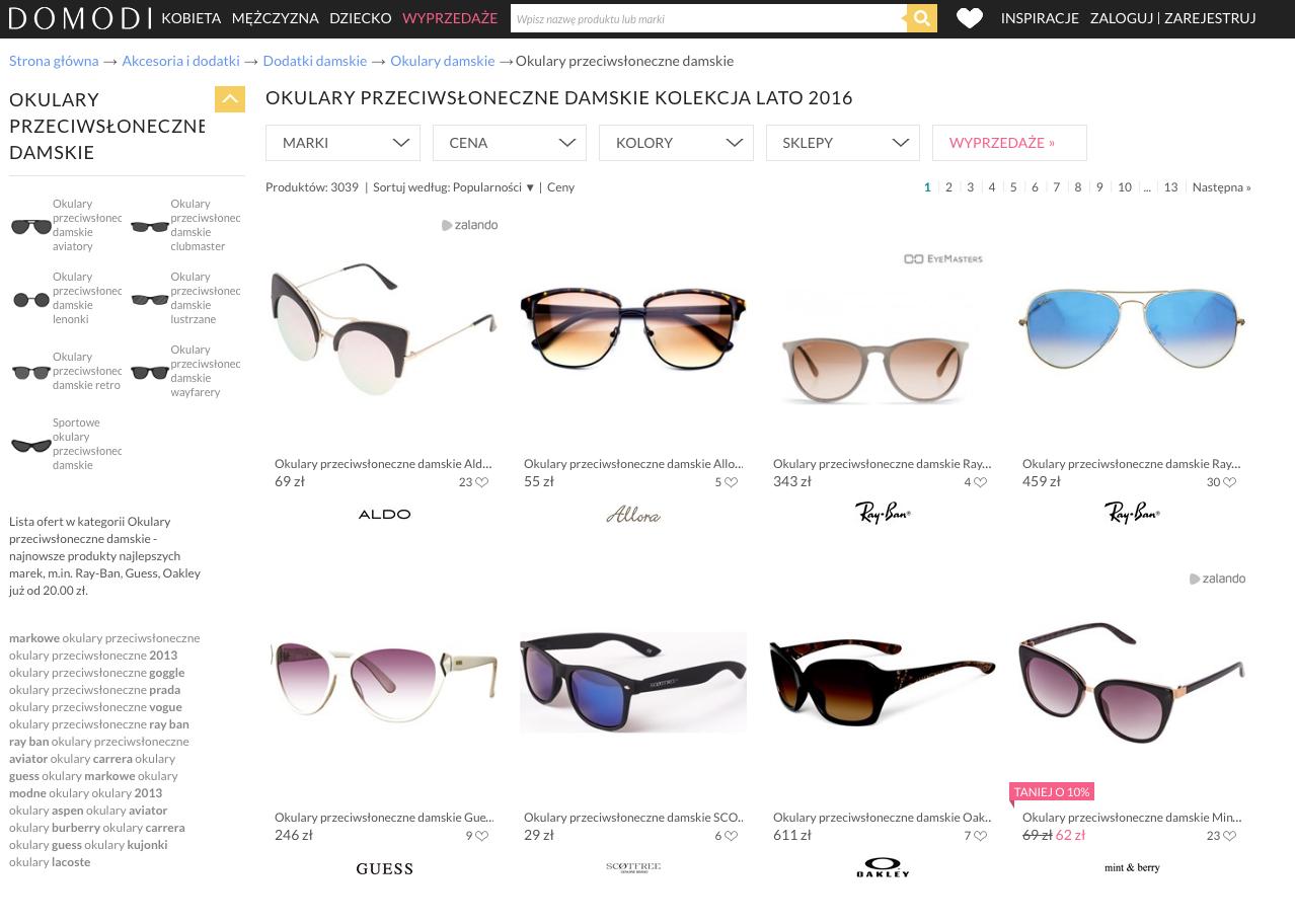 okulary domodi