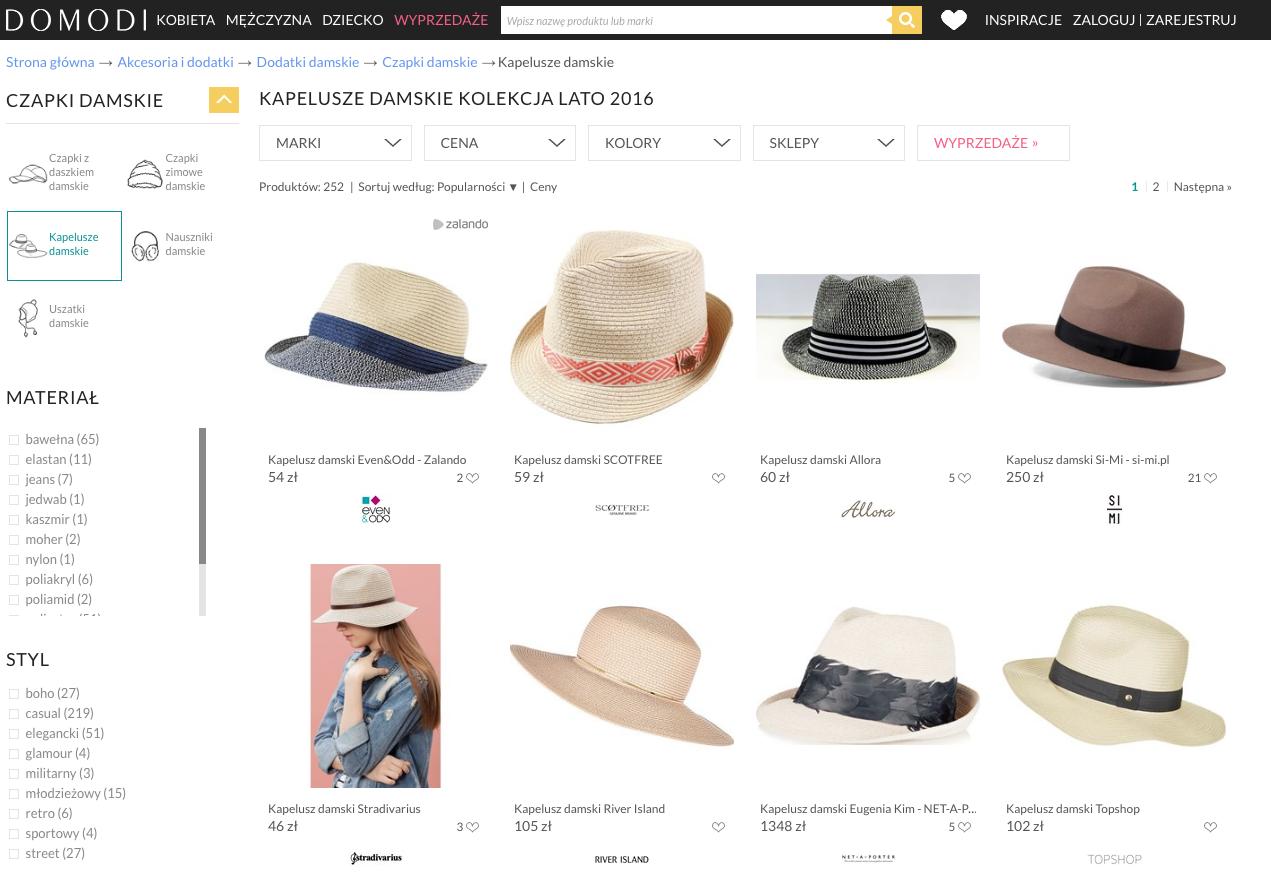 kapelusz domodi